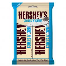 HERSHEY'S COOKIES AND CREAM 2 PACK 86GR